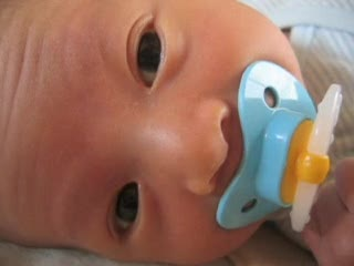 Kai w/ pacifier 1