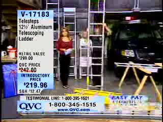 MedicineFilms.com - QVC Guy Falls From Ladder on the Air