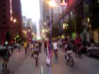 MedicineFilms.com - Critical Mass Chicago August 25th Part 3 - Biking Down Michigan Ave