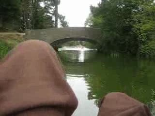 MedicineFilms.com - east coasters paddling in golden gate pond SF - nothing but knees baby!