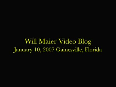 MedicineFilms.com - William Maier's video Blog for January 10, 2007