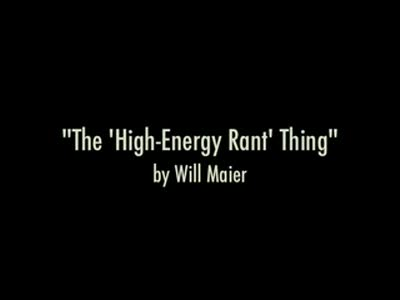 MedicineFilms.com - The 'High-Energy Rant' Thing