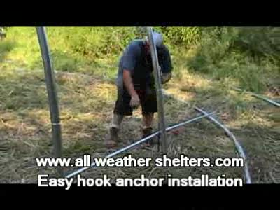MedicineFilms.com - Portable instant garage easy hook duck bill anchor installation