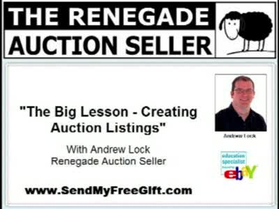 MedicineFilms.com - The Big Lesson - Creating Auction Listings