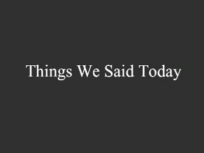 MedicineFilms.com - Things we said today