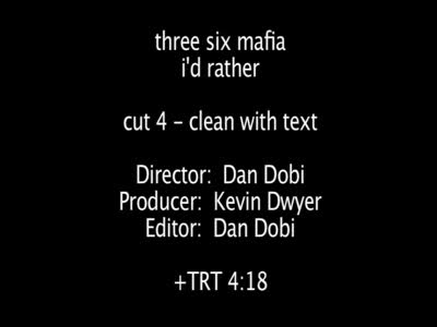 MedicineFilms.com - Three 6 Mafia - I'd Rather OFFICIAL VIDEO