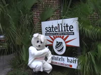 MedicineFilms.com - Dog of Bunnay visits the satellite
