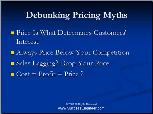 MedicineFilms.com - MAKE MONEY ONLINE:DEBUNKING PRICING MYTHS.