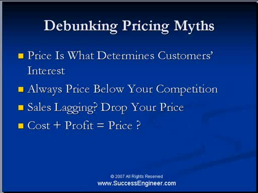 MedicineFilms.com - DEBUNKING PRICING MYTHS: MAKE MONEY ONLINE