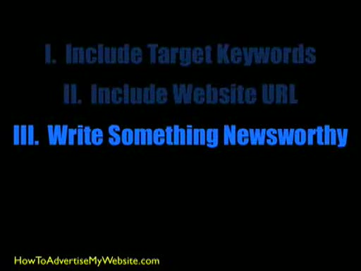 MedicineFilms.com - Advertising a Website - Press Release Tips