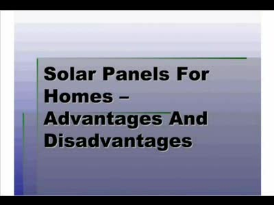 MedicineFilms.com - Conquering The Energy Crisis With Solar Panels For Homes