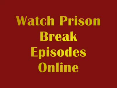 MedicineFilms.com - Watch Prison Break, the best TV show